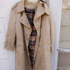 Womens london fog trench coat 6 pet removable line